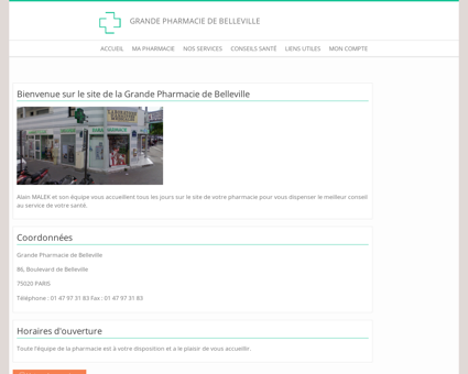 Grande Pharmacie de Belleville - Accueil
