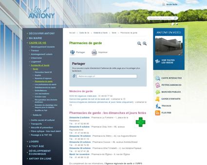 Pharmacies de garde | Ville d'Antony