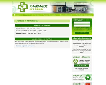 Horaires et permanences - Pharmacie de...