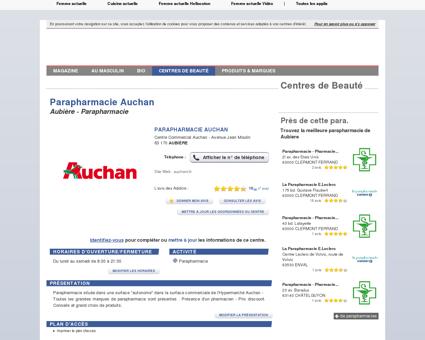 Parapharmacie Auchan - Aubière (63170) :...