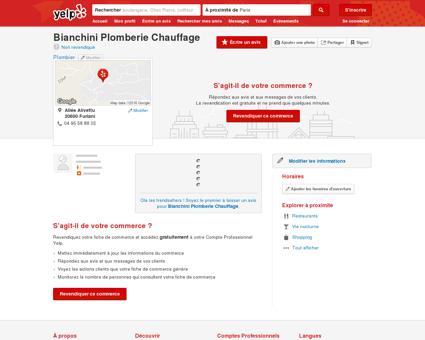 Bianchini Plomberie Chauffage - Plombier -...