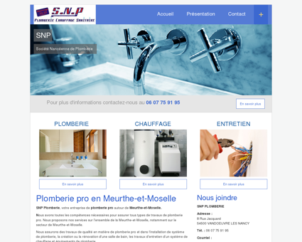 Plomberie pro en Meurthe-et-Moselle | SNP...