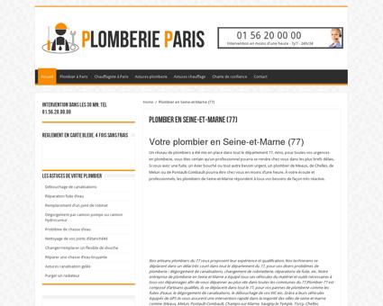 Votre plombier en Seine-et-Marne (77) -...