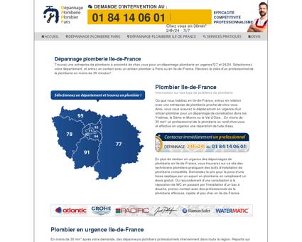 Dépannage plomberie Ile-de-France