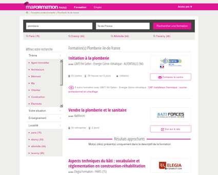 Plomberie Ile-de-france - MaFormationParis