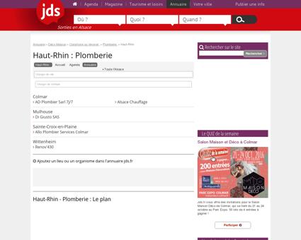Haut-Rhin - L'annuaire du plombier :...
