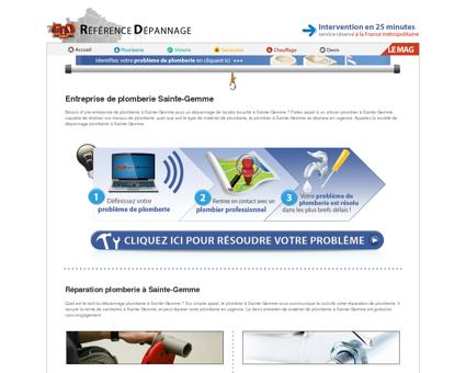Entreprise de plomberie Sainte-Gemme