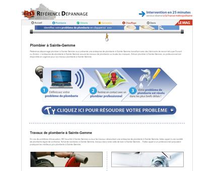 Plombier à Sainte-Gemme : dépannage...
