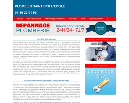 Plombier Saint Cyr L'Ecole : 01 39 20 01 90...
