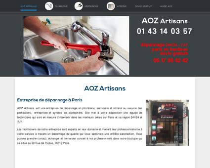 Plombier | aoz-artisans.fr