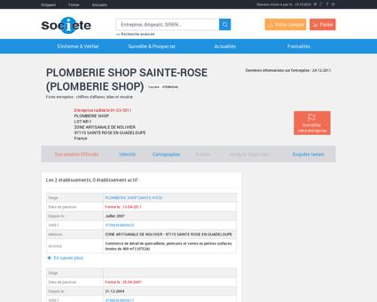 PLOMBERIE SHOP SAINTE-ROSE (479884546),...