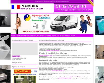 Plombier Boissy Saint Leger Tel: 01 42 79 39 44