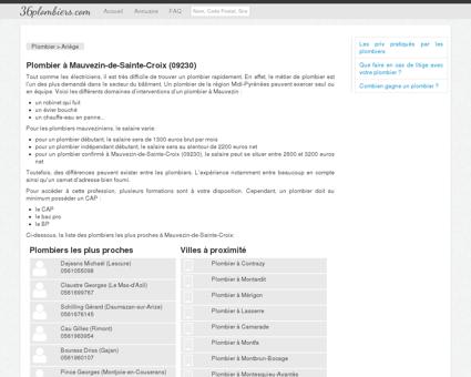 Plombier à Mauvezin-de-Sainte-Croix (09230)