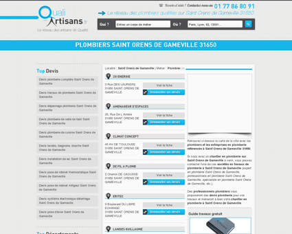 Plombier Saint Orens de Gameville 31650