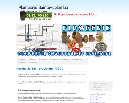 Plomberie Sainte-colombe 77650 Tel:...