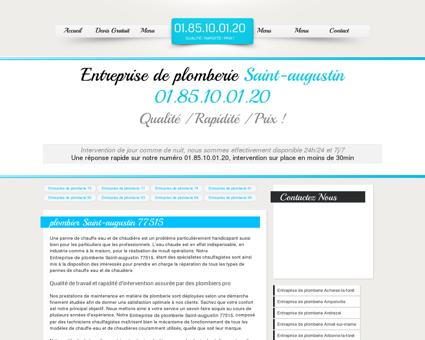 Entreprise de plomberie Saint-augustin...