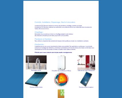 Plombier chauffagiste, Tarbes, PCS services