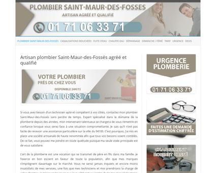 Plombier Saint-Maur-des-Fossés  Dépannage...