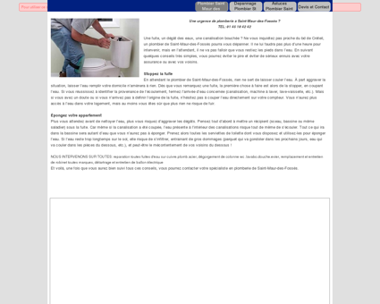 Plombier saint maur des fosses 94100: Devis...