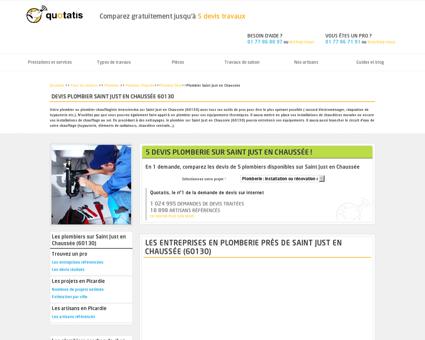 Travaux de plomberie Saint Just en Chaussée,...