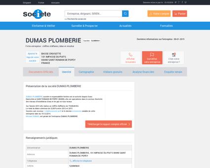 DUMAS PLOMBERIE (SAINT ROMAIN DE...