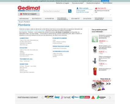 Plomberie - Tous les produits - GEDIMAT...