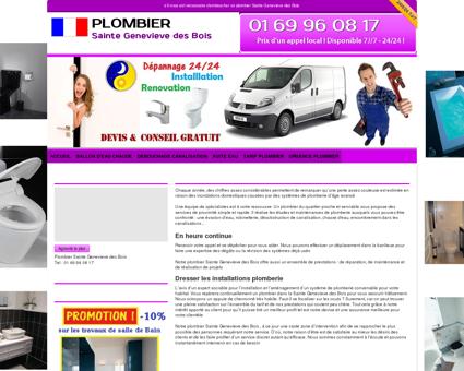Plombier Sainte Genevieve des Bois : 01 69 96...