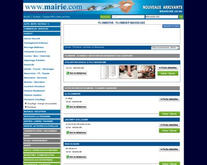 Plomberie - plombier Masseube : Mairie.com