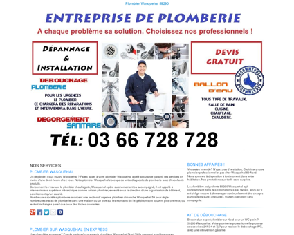 Plombier Wasquehal TEL:03 66 728 728