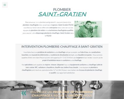 Plombier Saint-Gratien - 09 72 42 53 80 -...
