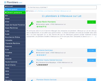 Plombier Villeneuve sur Lot : Avis, Devis pas...