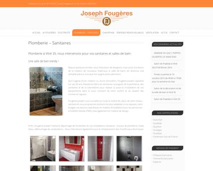 Plomberie - Joseph Fougères à Vitré (35)