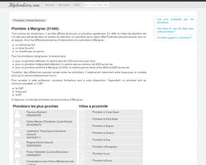 Plombier à Marignac (31440) - Annuaire des...