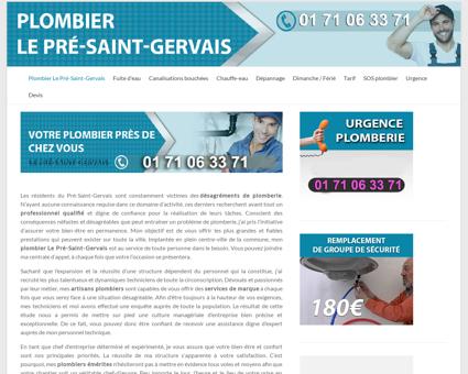 Plombier Le Pré-Saint-Gervais  Dépannage...
