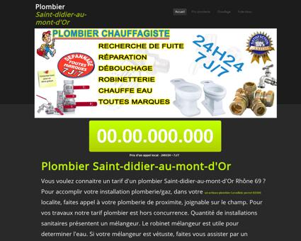 Plombier Saint-didier-au-mont-d'Or -...