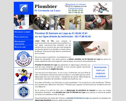 Plombier St Germain en Laye - 01.39.66.15.91