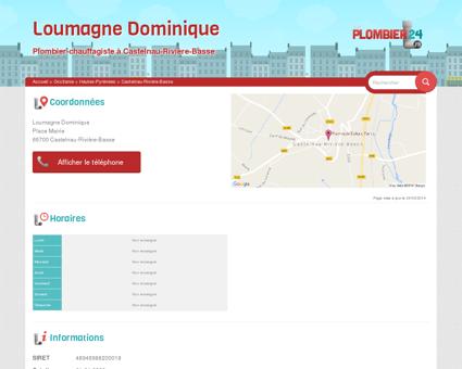 Loumagne Dominique - Plombier-Chauffagiste...