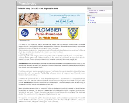 Plombier Vitry. 01.82.83.52.46. Réparation fuite