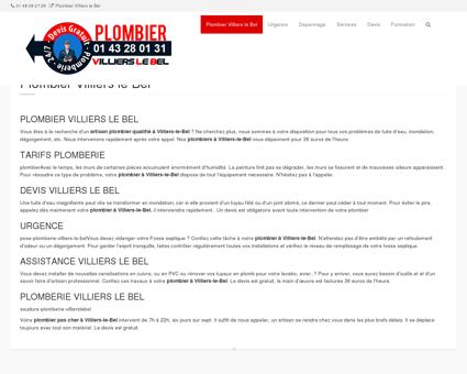 Plombier Villiers le Bel  sarcelles