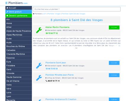 Plombier Saint Dié des Vosges : Avis, Devis...