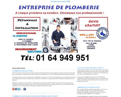 Plomberie Vaux-le-penil TEL:01 64 949 951