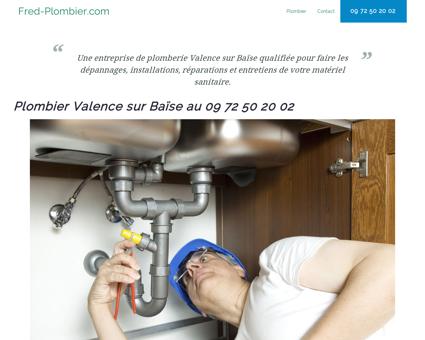 Plombier Valence sur Baïse - 09 72 50 20 02 -...