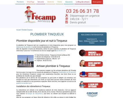 Plombier Tinqueux - Fécamp Services : 03 26...