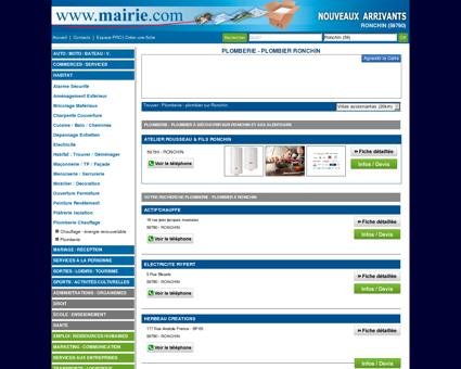 Plomberie - plombier Ronchin : Mairie.com