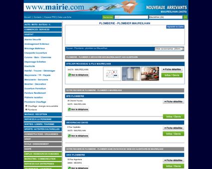 Plomberie - plombier Maureilhan : Mairie.com