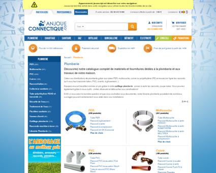 Achat plomberie en ligne | anjou-connectique.com