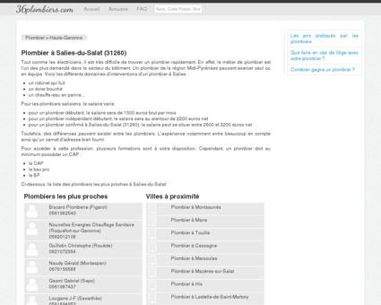 Plombier à Salies-du-Salat (31260) - Annuaire...