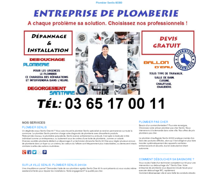 Plombier Senlis TEL:03 65 17 00 11