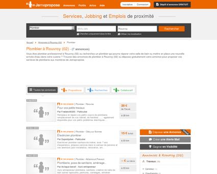 Plombier à Rouvroy (02) | Jemepropose