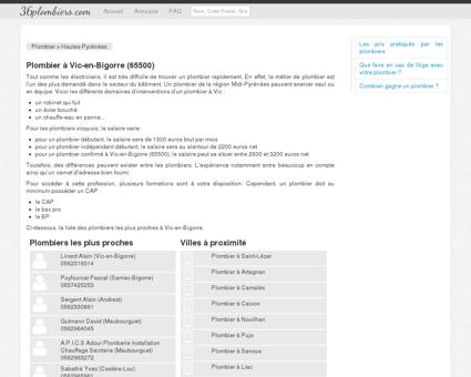 Plombier à Vic-en-Bigorre (65500) - Annuaire...
